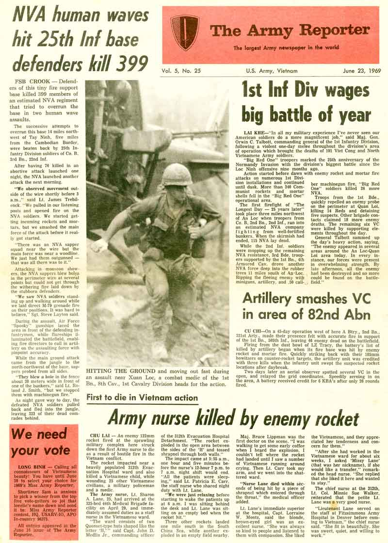 army reporter front page